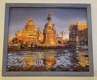 Картина по номерам на дереве GXT 4756 Звездная ночь (Ван ...